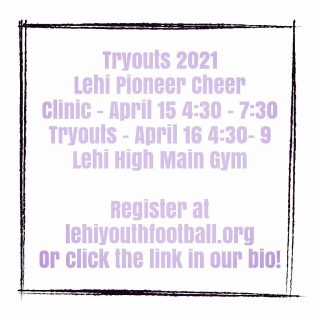 We couldn't be more excited!  Join us for another amazing season of Lehi Pioneer Youth Cheer.  Grades 1-9 for the 2021/22 school year!  #LPC #lehipioneercheer #lehi #cheer #youthcheer